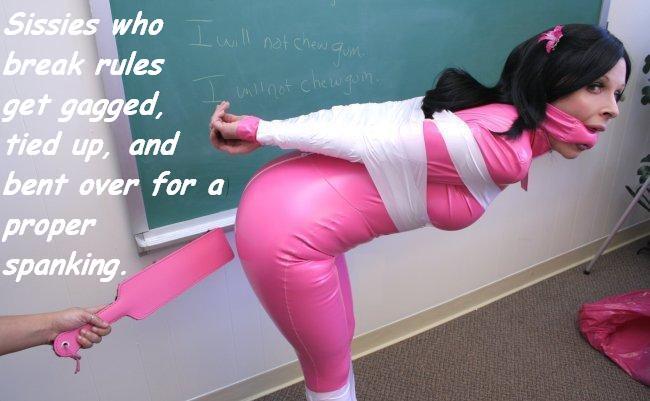 pink undergarment captions