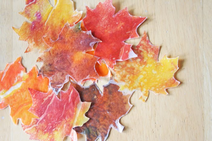 V And Co How To Wax Paper And Crayon Fall Leaves