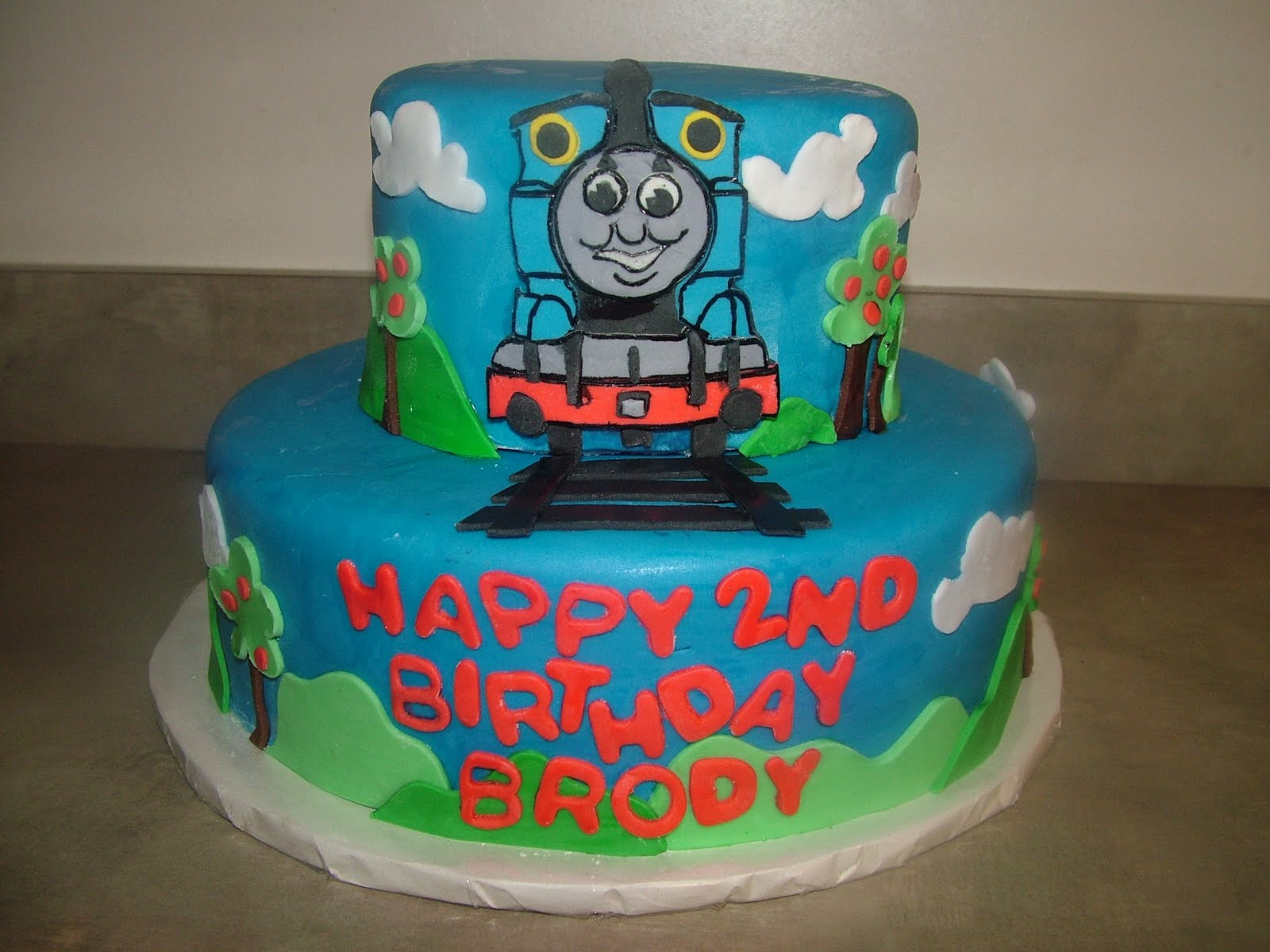 You have to see Thomas the Tank Engine cake by Macgurl! |Thomas The Tank Engine Cake