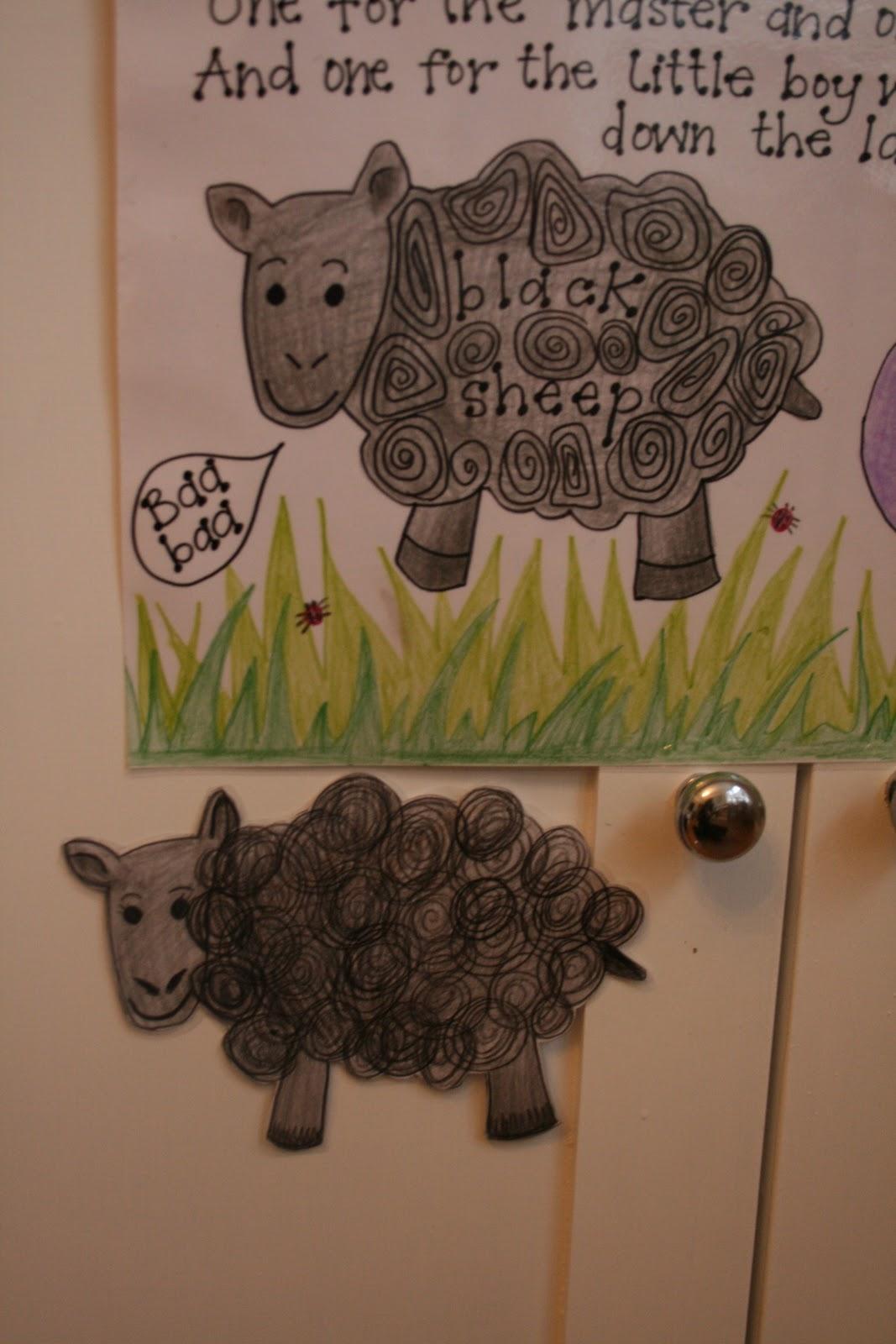 Baa Baa Black Sheep Song Sheet