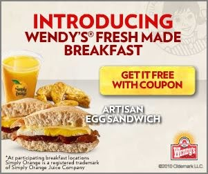 photograph relating to Wendy's Printable Coupons referred to as Printable Coupon: Totally free Breakfast Sandwich with acquire against