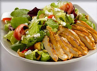 chicken and salad plate