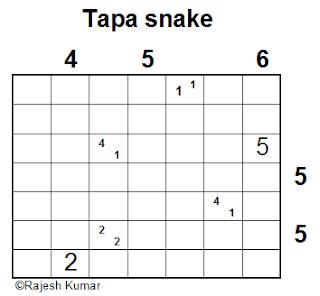 Logic Puzzle: Tapa Snake