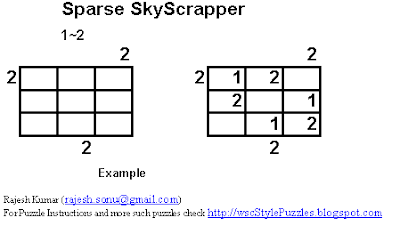 Logic Puzzles: Sparse Skyscrapers