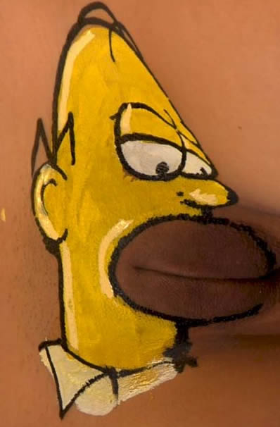 Homer simpson tattoo on vagina, balloon babe cumshot