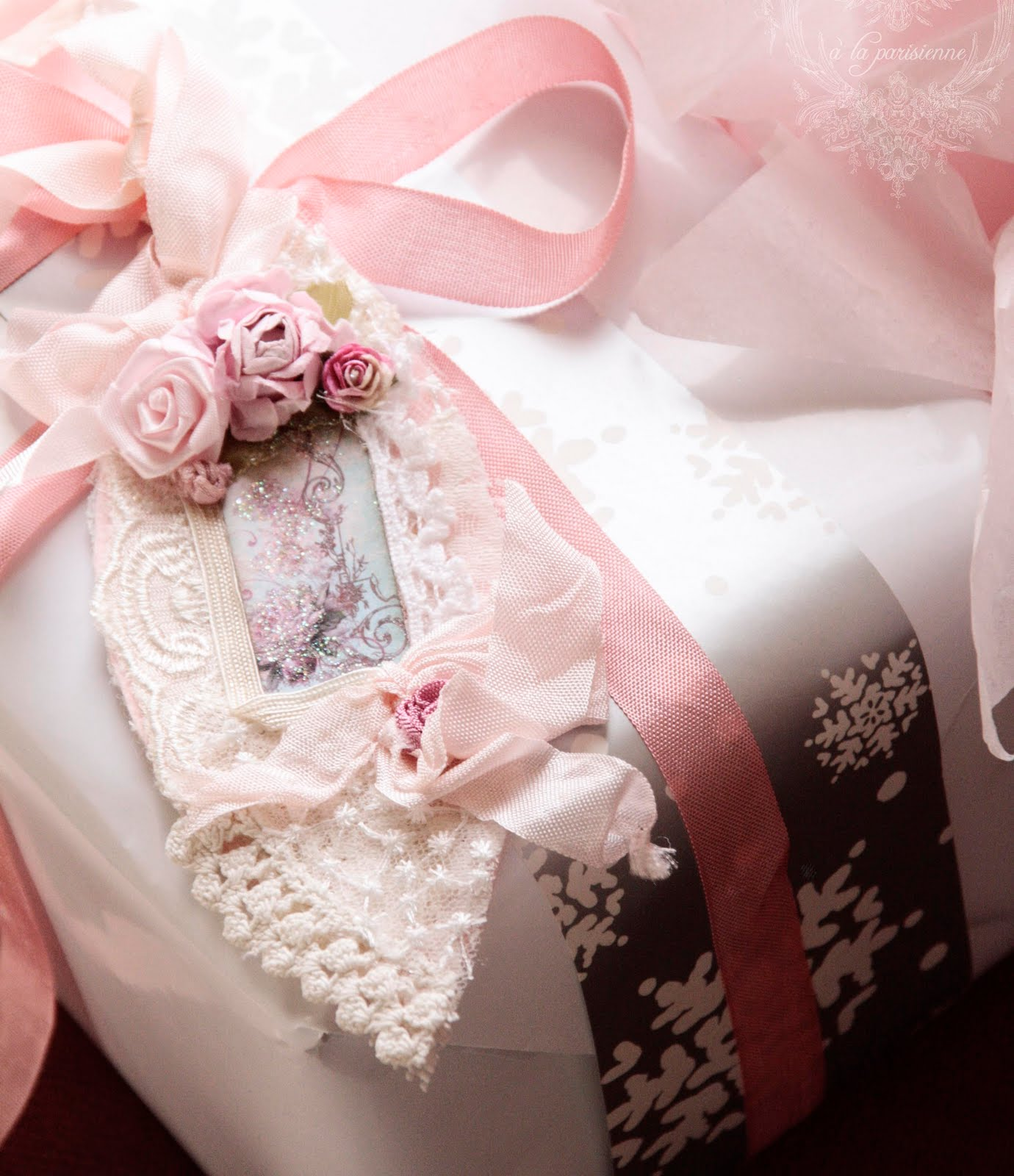 Gift Wrap with a Dash of Shabby Chic