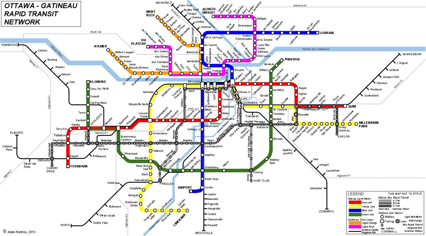 Ottawa Subway Map.Ottawa Transit Map Gadgets 2018