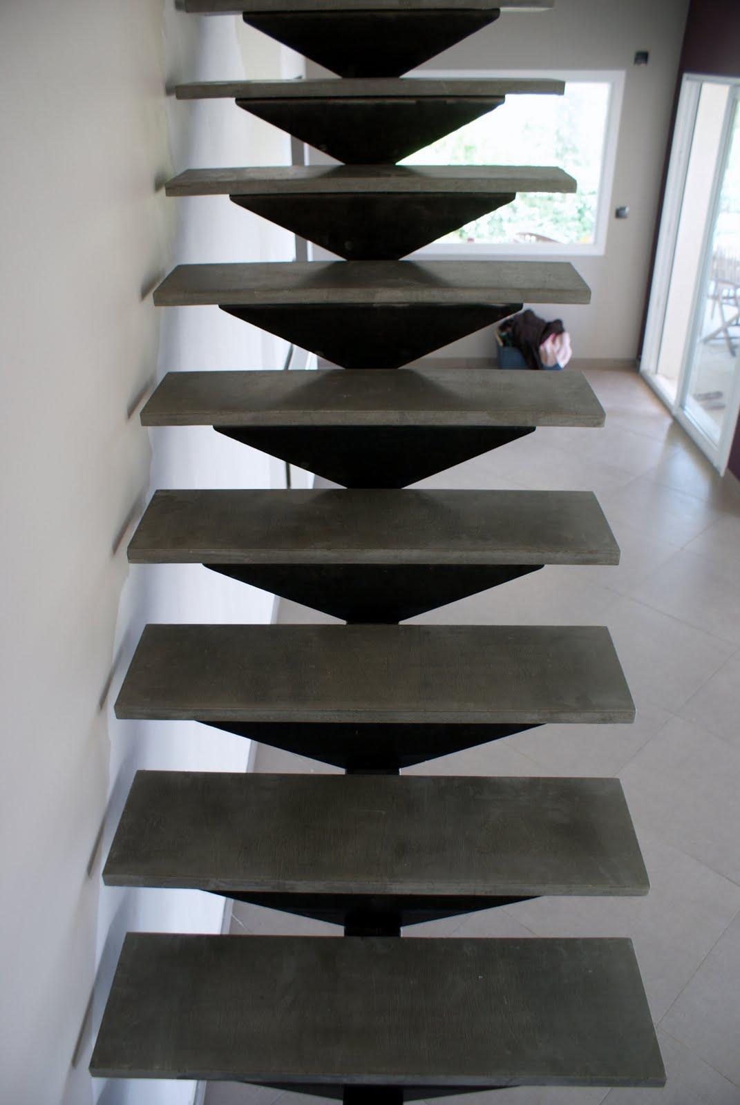 Escalier Acier  Beton