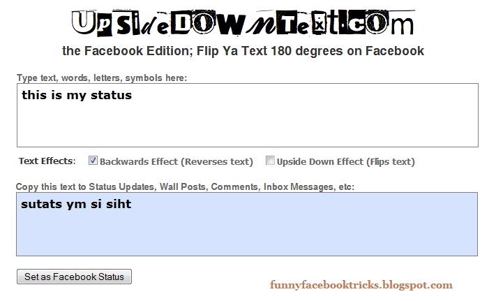 Some Reverse Invert Flip Upside Down Backward Text Generator Site ...