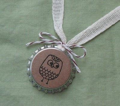 kraft necklace card
