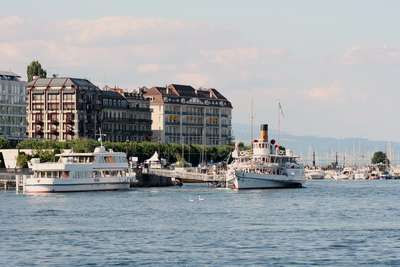 Photo du port de Geneve
