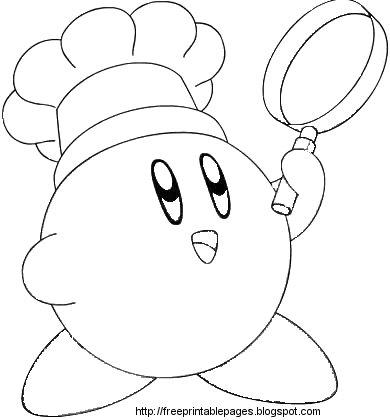 nintendo kirby coloring pages - photo#8