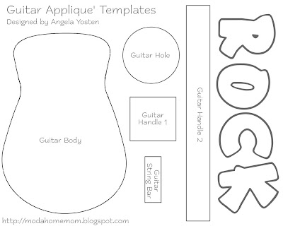 guitar template for kids