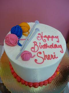 Birthday Cake Knitting Needles And Yarn