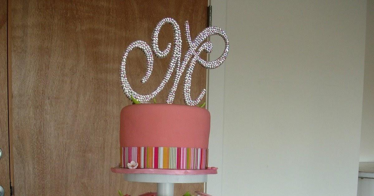 Artisan Bake Sho...W Monogram Wedding Cake Toppers
