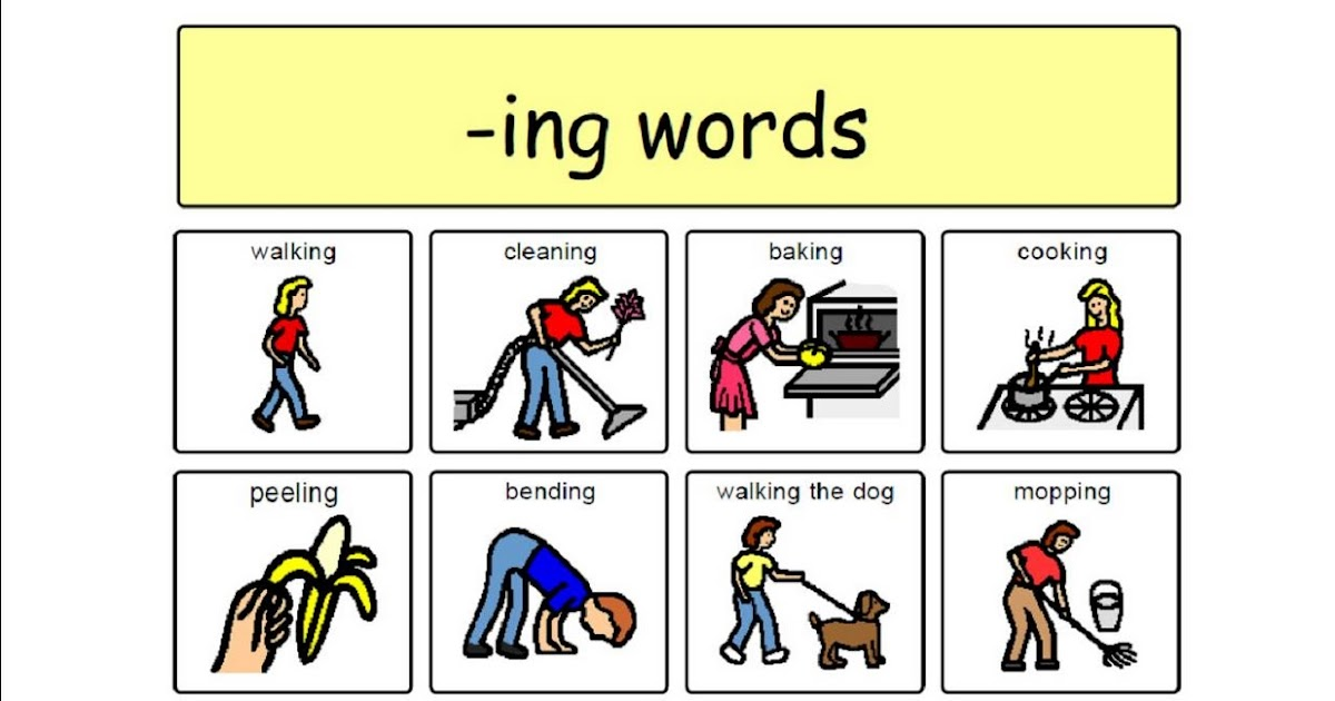 Speech Therapy With Miss Nicole: -ING Verbs