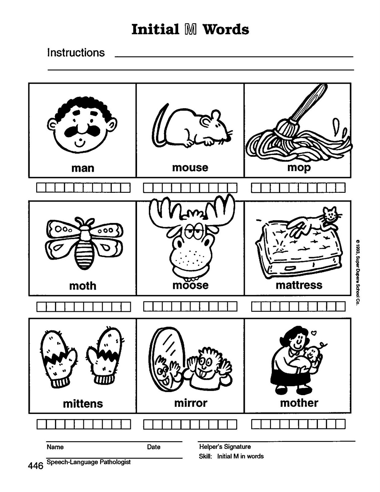 Speech Therapy With Miss Nicole M Initial Words