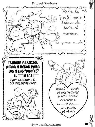 Maestra Asuncin Dia del Maestr Figuras para colorear