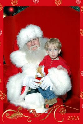 Brady sitting on Santa's lap