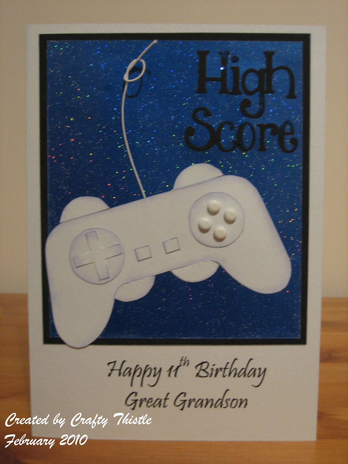 Play Station Birthday Card A Commissioned For An 11 Year Old Boy