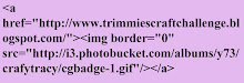 HTML code for our original badge