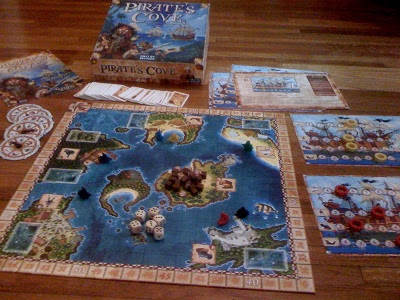 Pirate's Cove game from Days of Wonder - setup to play