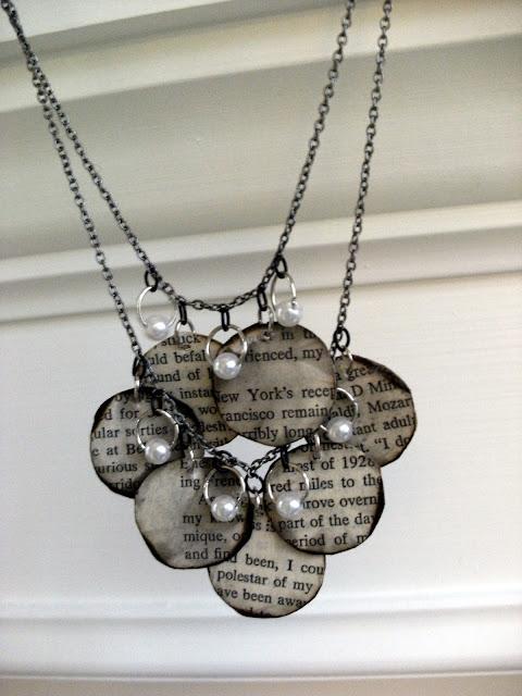 Book Page Necklace DIY