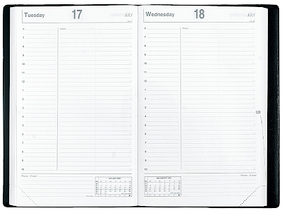 Quo Vadis daily planner - sample page