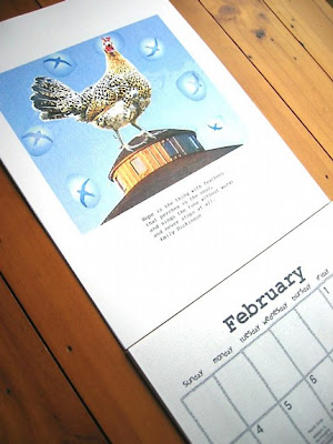 calendar with picture of chicken