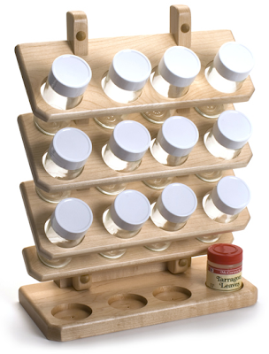 counter top spice rack, wood