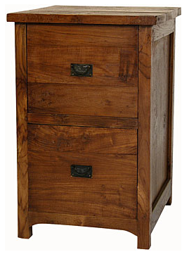 2-drawer wood file cabinet