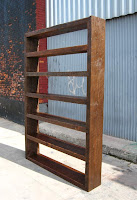 bookshelf from reclaimed lumber