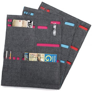 gray wall pockets from recycled felt