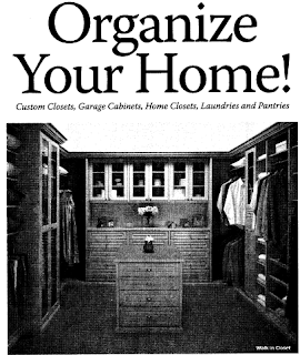 closet company ad saying Organize Your Home