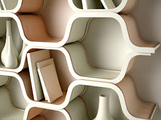 honeycomb shaped shelves