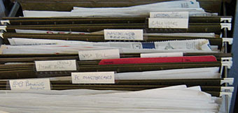 files with hand-written labels