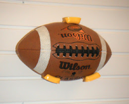 GarageTek samall ball holder with football