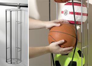 vertical ball rack