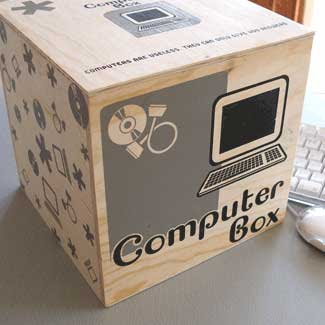 computer box - for computer-related odds and ends