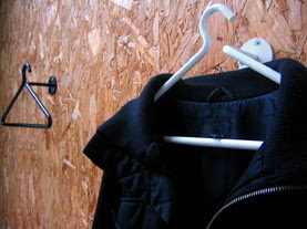 wall-mounted coat hanger