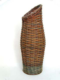 French willow umbrella holder