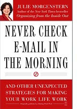 Book cover, Never Check E-Mail in the Morning