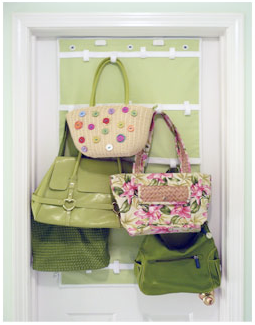 wall-mounted handbag holder
