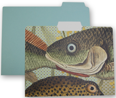 file folder with fish picture