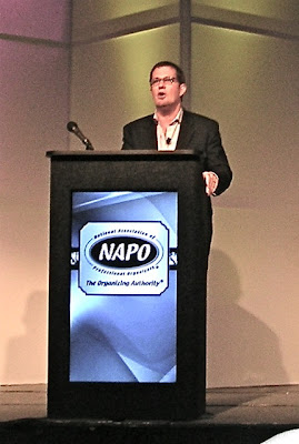 Peter Walsh speaking at NAPO conference