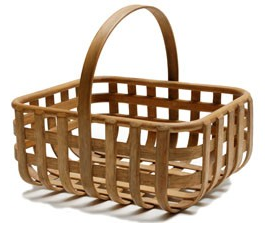 bentwood basket with handle