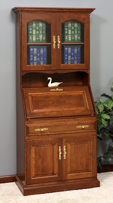 secretary desk, cherry wood