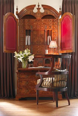 elaborate secretary desk