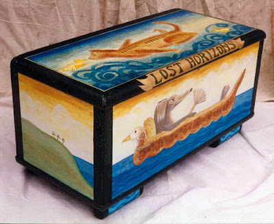 painted box or chest