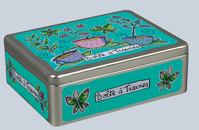 metal box for tisane